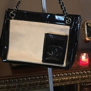 Hey Chanel purse cowhide one of a kind